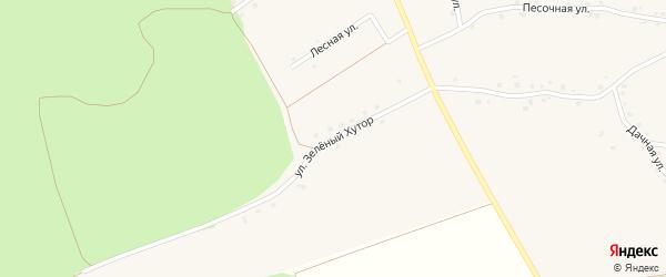 Улица Зеленый Хутор на карте Архангельского села с номерами домов