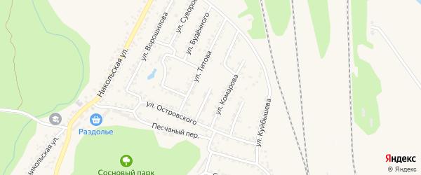 Улица Литвинова на карте Валуек с номерами домов