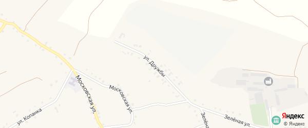 Улица Дружбы на карте Архангельского села с номерами домов