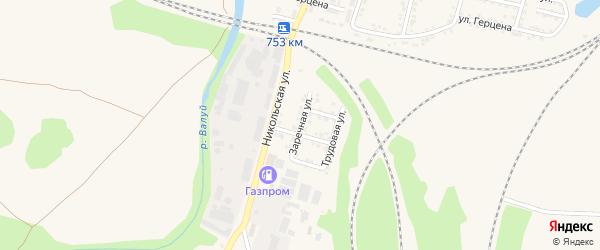 Заречная улица на карте Валуек с номерами домов