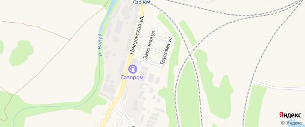 Мирный переулок на карте Валуек с номерами домов