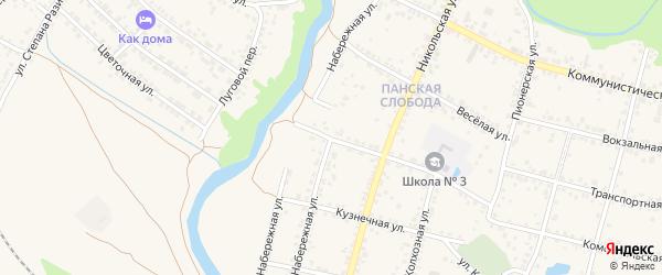 Набережная улица на карте Валуек с номерами домов