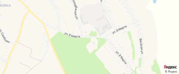 Улица 8 Марта на карте села Городища с номерами домов