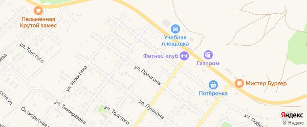 Переулок Победы на карте Валуек с номерами домов
