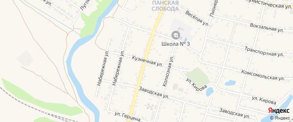 Кузнечная улица на карте Валуек с номерами домов