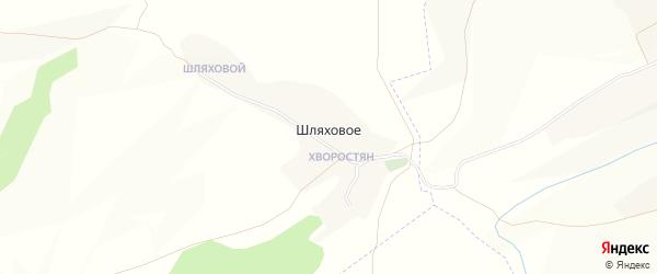 Карта хутора Шляхового в Белгородской области с улицами и номерами домов