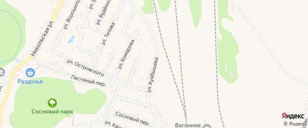 Улица Куйбышева на карте Валуек с номерами домов