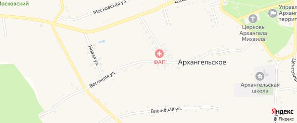 Весенняя улица на карте Архангельского села с номерами домов