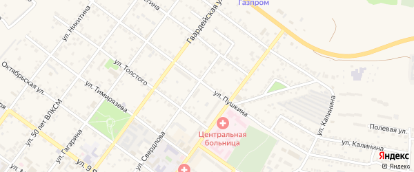 Улица Пушкина на карте Валуек с номерами домов