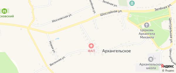 Молодежная улица на карте Архангельского села с номерами домов