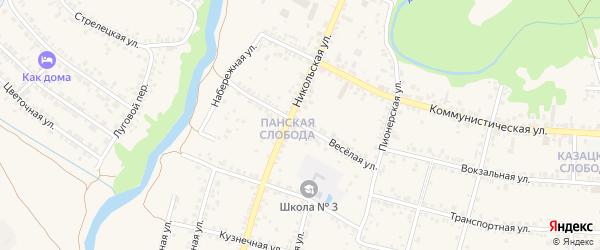 Веселая улица на карте Валуек с номерами домов