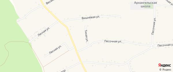 Тихая улица на карте Архангельского села с номерами домов