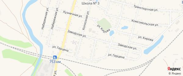 Заводская улица на карте Валуек с номерами домов