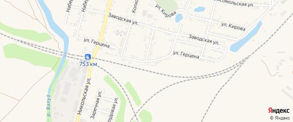 Улица Герцена на карте Валуек с номерами домов