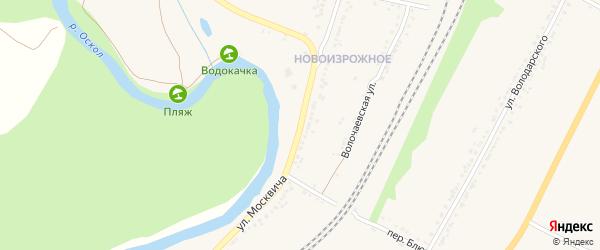 Улица Москвича на карте Валуек с номерами домов