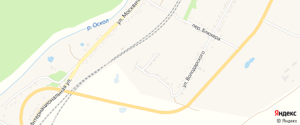 Южный переулок на карте Валуек с номерами домов