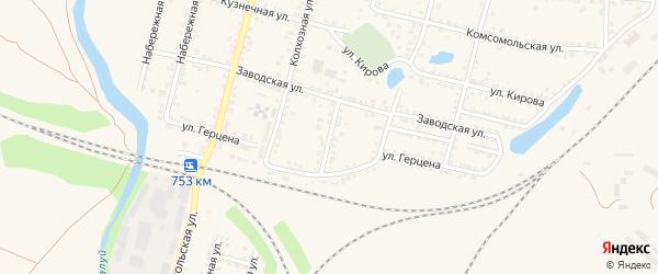 Железнодорожная улица на карте Валуек с номерами домов