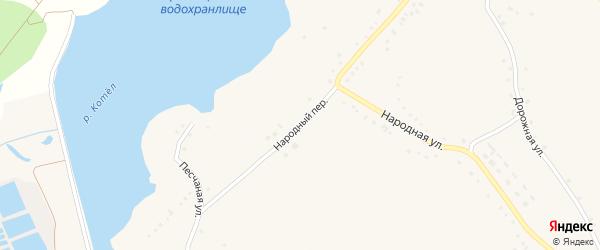 Народный переулок на карте Солдатского села с номерами домов
