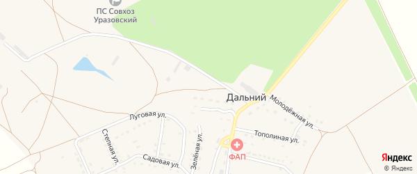 Зеленая улица на карте Дальнего поселка с номерами домов
