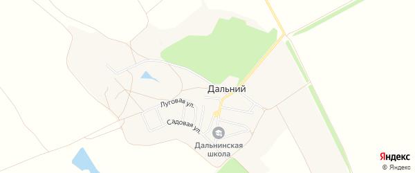 Карта Дальнего поселка в Белгородской области с улицами и номерами домов