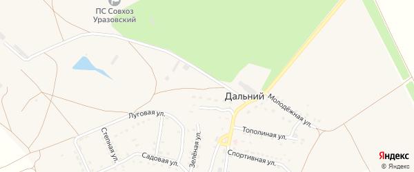 Садовая улица на карте Дальнего поселка с номерами домов