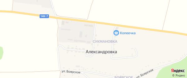 Улица Сукмановка на карте села Александровки с номерами домов