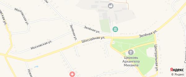 Шоссейная улица на карте Архангельского села с номерами домов