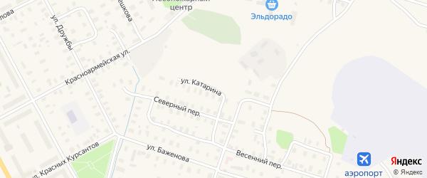 Улица Катарина на карте Онеги с номерами домов