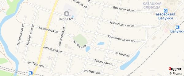 Красноармейский переулок на карте Валуек с номерами домов