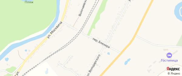Переулок Блюхера на карте Валуек с номерами домов