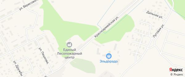 Красноармейская улица на карте Онеги с номерами домов