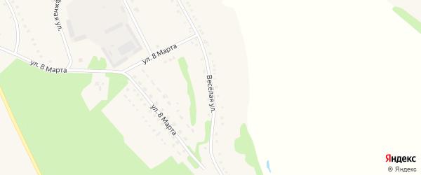 Веселая улица на карте села Городища с номерами домов