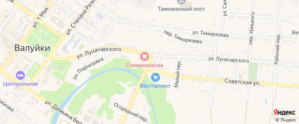 Советская площадь на карте Валуек с номерами домов