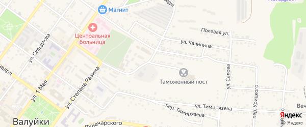 Переулок Пушкина на карте Валуек с номерами домов
