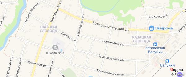 Красноармейская улица на карте Валуек с номерами домов