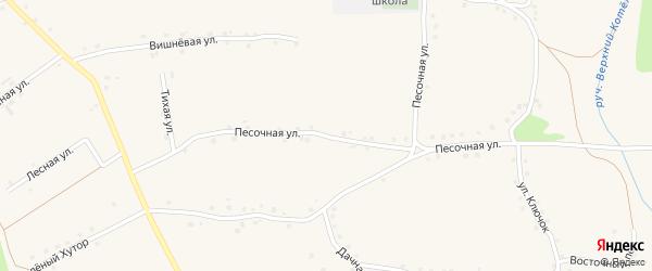 Песочная улица на карте Архангельского села с номерами домов