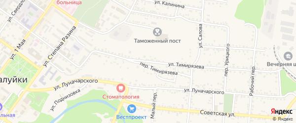 Улица Тимирязева на карте Валуек с номерами домов