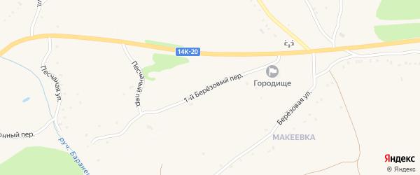 1-й Березовый переулок на карте Солдатского села с номерами домов