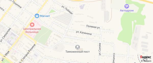 Улица Калинина на карте Валуек с номерами домов