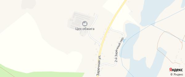 1-й Заречный переулок на карте Солдатского села с номерами домов