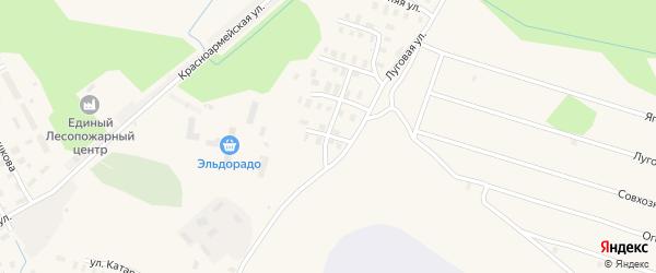 Огородный переулок на карте Онеги с номерами домов
