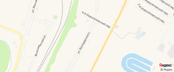 Улица Володарского на карте Валуек с номерами домов