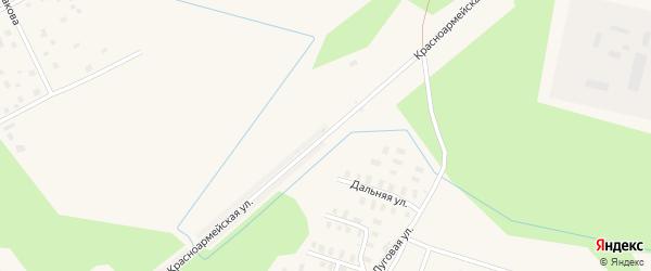 Спортивная улица на карте Онеги с номерами домов