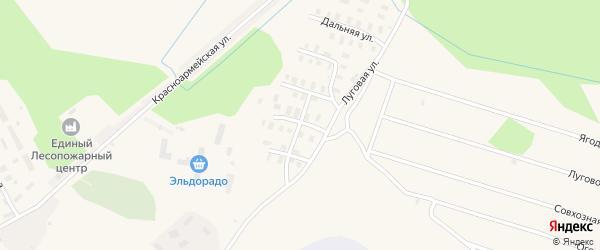 Совхозная улица на карте Онеги с номерами домов