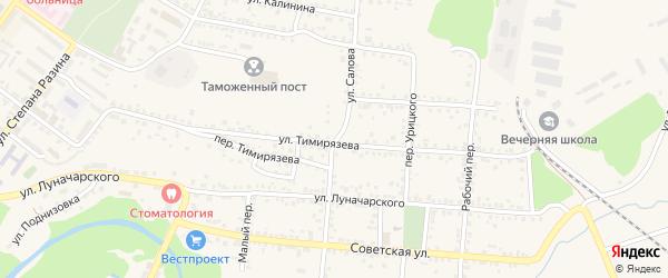 Улица Салова на карте Валуек с номерами домов
