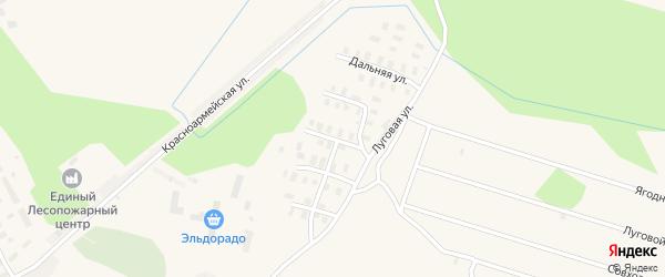 Луговой переулок на карте Онеги с номерами домов