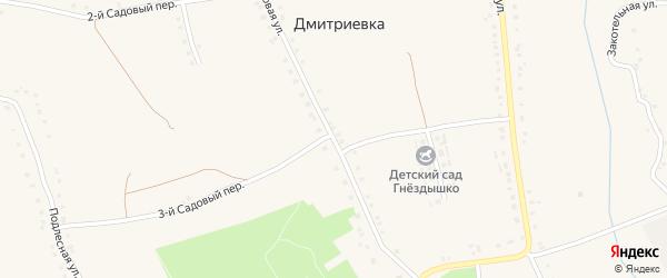 Садовая улица на карте села Дмитриевки с номерами домов