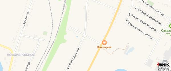4-й Новоселовский переулок на карте Валуек с номерами домов
