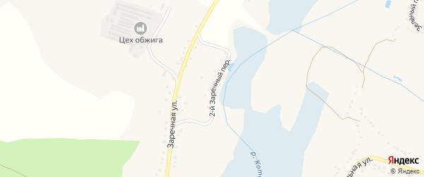 2-й Заречный переулок на карте Солдатского села с номерами домов