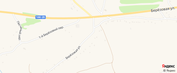 Березовая улица на карте Солдатского села с номерами домов